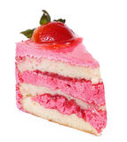 Pink strawberry cake Stock Image