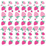 Pink strawberry pattern vector background Stock Photos