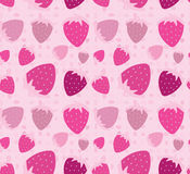 Pink strawberry seamless pattern Stock Photo
