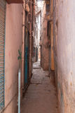 Pink street. Narrow pathway between houses. Varanasi, Uttar Pradesh, India Royalty Free Stock Photography