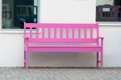 Pink street chair Stock Images