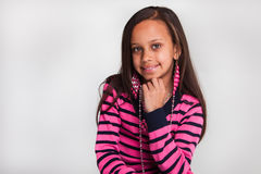 Pink stripe sweater Royalty Free Stock Photography