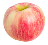 Pink striped apple Stock Photo
