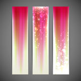 Pink striped banners. Set of pink striped banners Stock Photography
