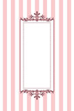 Pink striped frame Stock Image