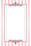 Pink striped frame Stock Photography