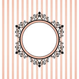Pink striped frame Royalty Free Stock Photos