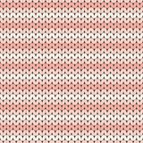 Pink striped knitted seamless pattern Stock Image