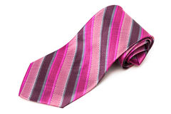 Pink striped tie Stock Photography