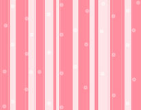 Pink stripes and flowers background Royalty Free Stock Images