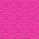 Pink stripes and flowers pattern seamless Stock Photography