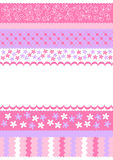 Pink stripes invitation card Stock Photos