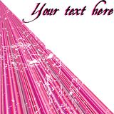 Pink stripes with place for sample text Stock Photography
