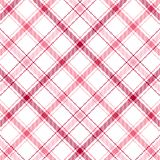 Pink Stripes Plaid Stock Photography
