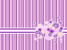 Pink stripped background. Pink and purple backdrop with circle grunge ornament Stock Images