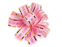 Pink stripy holiday ribbon for presents and gifts Stock Images