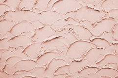 Pink Stucco Surface On Wall Royalty Free Stock Photo