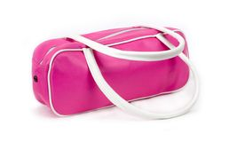 Pink style bag. Fashion (isolated Royalty Free Stock Images