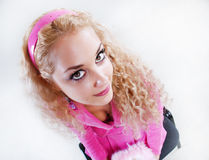 Pink style blonde Stock Photo