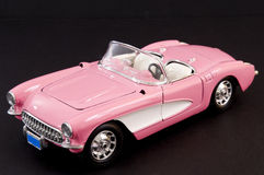 Pink stylish classic sports car royalty free stock photo