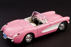 Pink stylish classic sports car Stock Photos