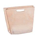 Pink stylish craft paper shopping bag Stock Photo