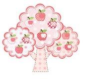 Pink stylized apple tree Stock Photo