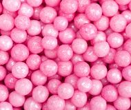 Pink sugar ball cake decorations Royalty Free Stock Photo
