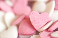 Pink sugar hearts Royalty Free Stock Photos