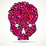 Pink sugar skull Royalty Free Stock Photos