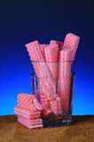 Pink Sugar Wafer Cookies Stock Photography