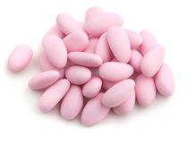 Pink sugared almonds Royalty Free Stock Photography