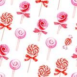 Pink sugarplums seamless vector pattern Royalty Free Stock Image