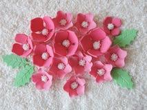 Pink sugary flowers Stock Photos
