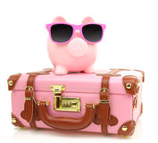 Pink suitcase Royalty Free Stock Photography