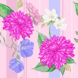 Pink summer pattern for summer dress Royalty Free Stock Images