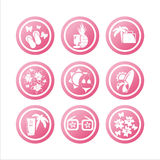 Pink Summer Vacation Signs Stock Image
