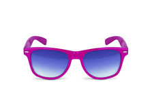Pink sun glasses. Isolated over the white background. With clipping path stock photography