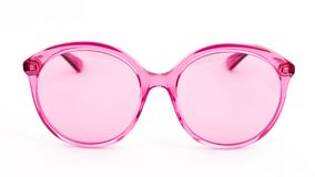 Pink sun glasses on white background stock image
