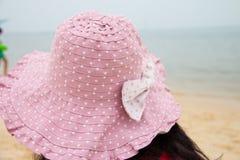 Pink sun hat Royalty Free Stock Image