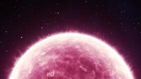 Pink sun stock video footage
