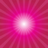 Pink sunburst background. With light rays stock illustration