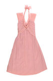 Pink sundress. evening dress isolated on white stock photography