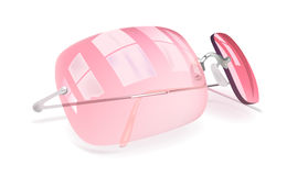 Pink sunglasses. Vector pink sunglasses in realistic style Stock Images