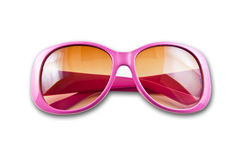 Pink sunglasses. Isolated on white background Royalty Free Stock Photo