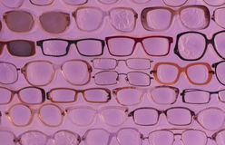 Pink sunglasses background photo Stock Images