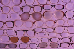 Pink sunglasses background photo Stock Photos
