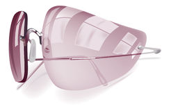 Pink sunglasses icon Royalty Free Stock Image