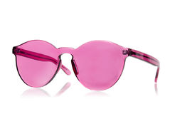 Pink sunglasses isolated Stock Photo