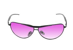 Pink sunglasses isolated on white Royalty Free Stock Images